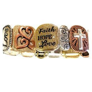 Jewelry - Faith Hope Love Bracelet
